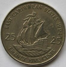 East Caribbean States 25 cents – 1994 Circulated