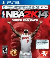 NBA 2k14 Basketball Super Fan Pack - Playstation PS3 and PS4 Game - BRAND NEW