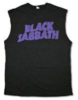 Black Sabbath Purple Logo Black Tank Top Muscle Shirt New Official Band Merch