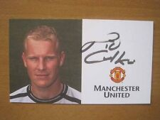 Temporada 2001-02 Nick Culkin Firmado Man Utd tarjeta club (2173)