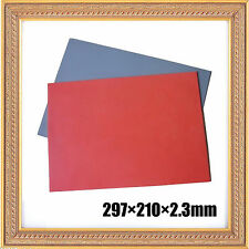 0.09'' 2 Sheets Silicone Rubber Gray+Orange for Engraving Cutting Stamping Stamp
