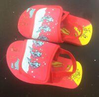 chaussures sandales plastique mousse rouge  pointure 24 tBe (B10)