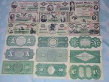 STARTER COLLECTION OF 9 OLD CIVIL WAR GREENBACK BANKNOTES COPIES PLS READ DESCRI