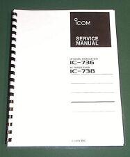 ICOM IC-736  Service Manual - Premium Card Stock Covers & 28 LB Paper!
