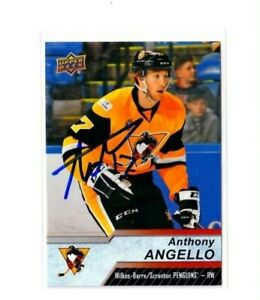 ANTHONY ANGELLO autographed SIGNED '18/19 Upper Deck AHL crd PITTSBURGH PENGUINS