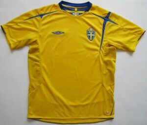Sweden World Cup 2006 2005 Umbro shirt jersey camiseta maglia Sverige L