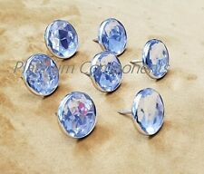 20 X DIAMANTE NAIL BUTTONS FOR SOFA HEADBOARD UPHOLSTERY HOME DECOR 15MM X 22MM