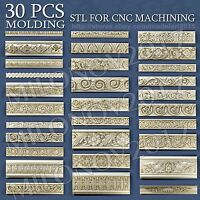 30 pcs set 3d STL models Molding for CNC Router Aspire Artcam