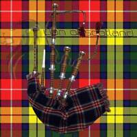 Scottish Highland Bagpipe Full Size Silver Mounts Natural Finish Free P. Chanter
