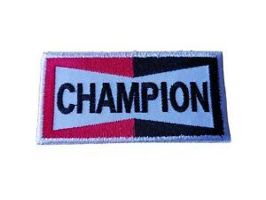 CHAMPION Spark Plugs Motor Racing / Motorsport Patch Sew / Iron On Badge