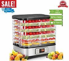 máquina deshidratadora de alimentos 8 bandeja temporizador digital temp control