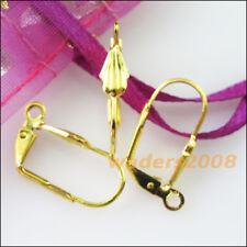 20 New Gold Dull Silver Bronze Plated Leaves Lever Back Splitring Earring Hooks