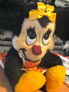 1960s MINNIE MOUSE Stuffed PLUSH TOY  WALT DISNEY California Stuffed Toys mickey