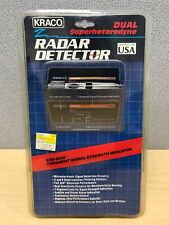 Kraco Dual Superheterodyne X and K Radar Detector. KRD-9505 7 Segment. New