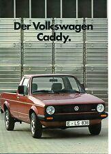 Der Volkswagen Caddy 1985  Prospekt VW