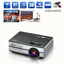 Android WiFi 2500 Lumens LED Home Theatre Projector Multimedia USB HDMI 3D 1080P