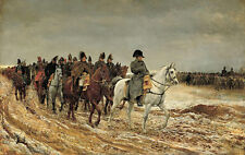 """oil painting """"Napoleon and his staff are returning after the battle""""@13488"""