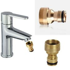 Garden Brass Threaded Hose Tap Adaptor Water Pipe Connector Tube Fitting