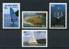 St Vincent & Grenadines 1988 MNH Tourism Surfing Boats Diving 4v Set Stamps