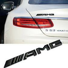 High Quality 3D Black AMG Boot Rear Back Badge Decal Emblems Sticker All Type
