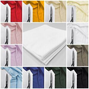 Cotton Flannel Fabric Premium Plain 100% Brushed Wynciette Dressmaking Material
