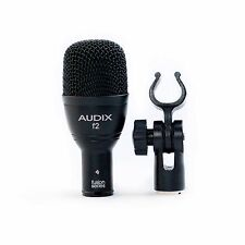 Audix F2 Dynamic Drum Microphone Tom/Snare w/ Clip Hypercardioid Hand Percussion
