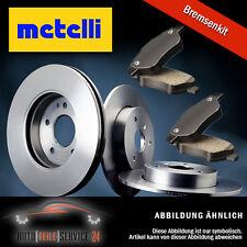 Bremsenset 2x Bremsscheiben Metelli 230mm Voll und Beläge Hinten Audi Seat VW