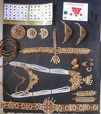 20 pieces Temple Jewelry stones South Indian Bridal Bharatanatyam Dance Set ////