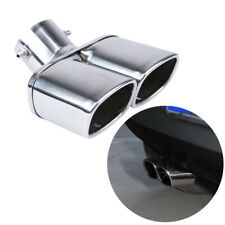 """63mm / 2.5"""" Stainless steel Chrome Car Dual Exhaust Tip Tail Pipe Muffler Kit"""