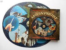 Vintage (1969) Waddingtons Elliptical Jigsaw Puzzle Moon Probe, 2 Missing Pieces