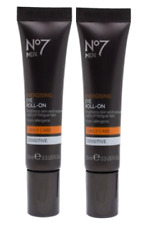 x2 No7 Men Energising Eye Roll-on Sensitive 15ml Brand New RRP: £28.00