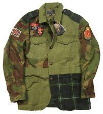 Polo Ralph Lauren Men's British Elmwood Camo Patchwork Cotton Canvas Jacket $498