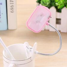 1pc Mini Flexible Clip-on Bright Booklight LED Travel Book Reading Lamp Light