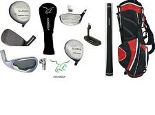 TALL SENIORS EXECUTIVE GOLF CLUB SET DRIVER+UTILITY WOODS+IRONS+PUTTER+STAND BAG