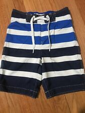 Abercrombie Kids Boys Swim Shorts Size M Blue & White Striped
