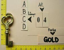 M04C/G  Antik Möbel Schlüssel - Ersatzschlüssel - Rohling zB. für  Vertiko