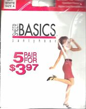 Sheer Basics Pantyhose Value Pack of 5 Pair Off White Size A Sheer to Waist New