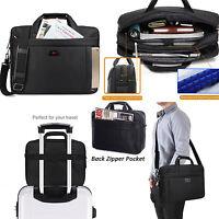 Black Briefcase Computer Handbag Shoulder Bag 15.6inch Laptop Notebook Messenger