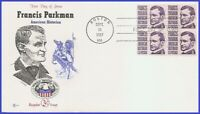 USA3 #1281 U/A COVER CRAFT FDC BL4  Francis Parkman