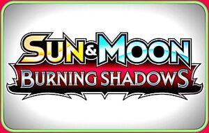 Sun & Moon BURNING SHADOWS Booster Code Cards - Pokemon Online TCG XY Codes
