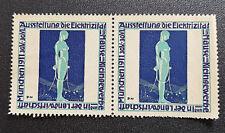 Cinderella Poster Stamp Germany Ausstellung die Elektrizität München 1911 (7586)