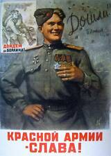 poster - Victory ww2 Soviet Soldier USSR WAR Russia CCCP