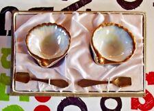 Ancien service beurre caviar coquillage porcelaine oeufs de poissons