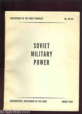 Soviet Military Power   DA PAM  No. 20-65   bibliography  US Army   1959