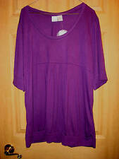 NWT PLUS SZ 3X THAT RUNS SMALLER PURPLE TOP BY EXTRA TOUCH EMPIRE STYLE