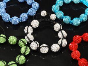 Men's Women's Swarovski Crystal Bracelet 5 Different Colors Available+Free Ship