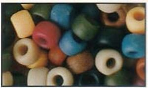 100 Mixed Americana Pony Beads, IDEAL FOR DUMMY CLIPS , BRACELETS , HAIR BRADING