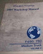 2001 Ford F-650 F650 F 750 Medium Truck Service Shop Repair Manual VOLUME 2 ONLY