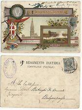 cartolina antica 76704  reggimento fanteria brigata  modena e timbro sala di l