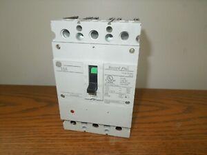 GE Record Plus FBV36TE015RV 15A 3P 600V Circuit Breaker w/ panel Connectors Used